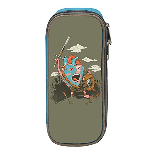 Heart Warrior Big Capacity Canvas Mobile Phone Case Portable for Boy Blue