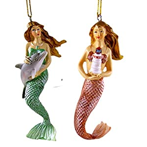 Mermaid Old World Christmas Mermaid Friends Glass Blown Ornament