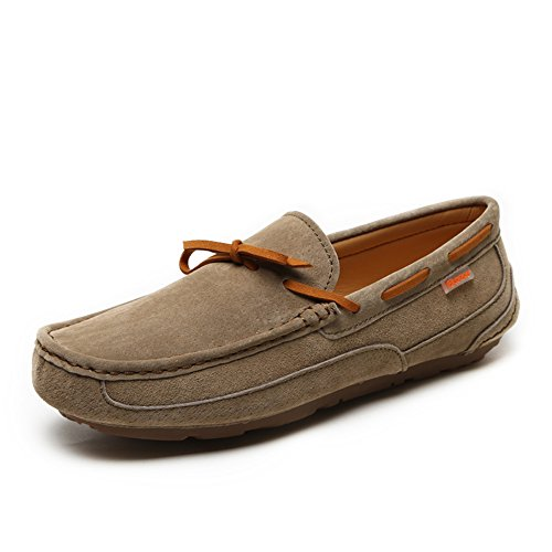 Coolloog Men's Driving Shoes Suede Leather Moccasins Slipper Casual Slip On Loafers Shoes