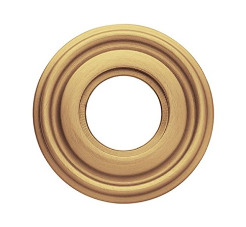 - Baldwin 5010034IDM Lacquered Vintage Brass Single Estate Rosette for Dummy Functions