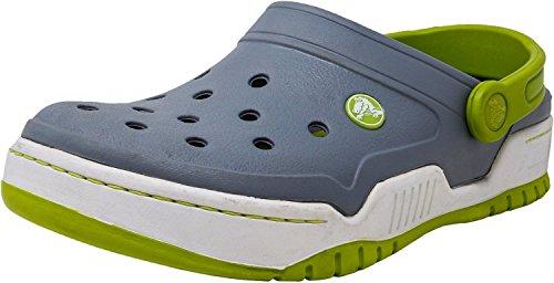 Crocs Front Court Clog Concrete/Volt Green Ankle-High Clogs - 8M (Front Court Clog)