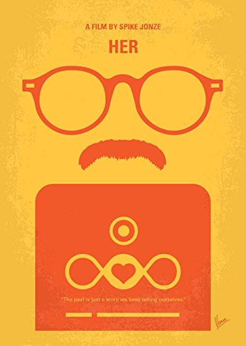 Her Movie Poster - Imagekind Wall Art Print entitled No372 My HER Minimal Movie Poster by Chungkong Art | 16 x 22