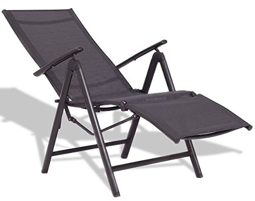 K&A Company Chaise Lounge Chair Patio Adjustable Outdoor