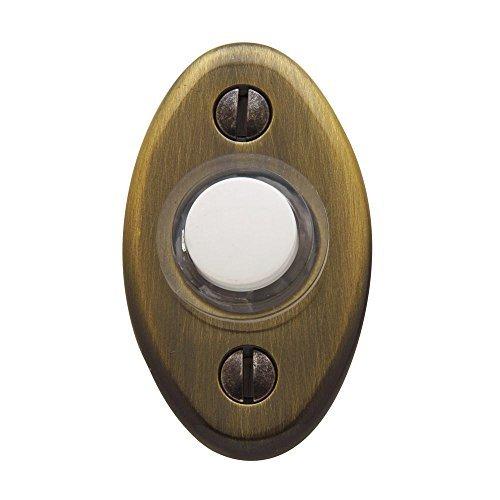 - Baldwin 4852.050 Oval Doorbell Button, Satin Brass and Black by Baldwin