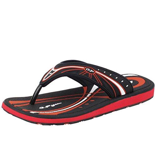 GP5810 Men/Women Outdoor/Water Comfort Flip Flop, Black Red, EU44