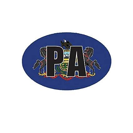 Pennsylvania State Oval Sticker Decal Vinyl PA
