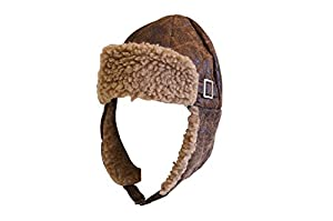 Men's Steampunk Goggles, Guns,  Accessories Aviator Pilot Cap Adult Hat Brown with Buckle $7.45 AT vintagedancer.com