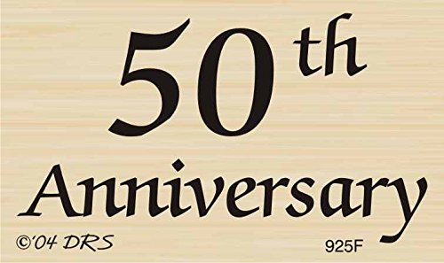 50th Anniversary Greeting Rubber Stamp By DRS Designs