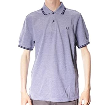 Para hombre Fred Perry Twin Polo para mujer - Medieval azul ...