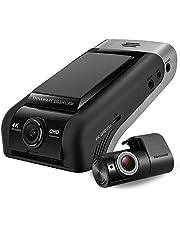 Thinkware U1000 4K-camera aan de voorkant 2160p UHD-camera aan de achterzijde 2K 1440P QHD (EU-model) - Ultra High Definition met nachtzicht (Super Night Vision 2.0), 64 GB SD-kaart, kabel om verbindi