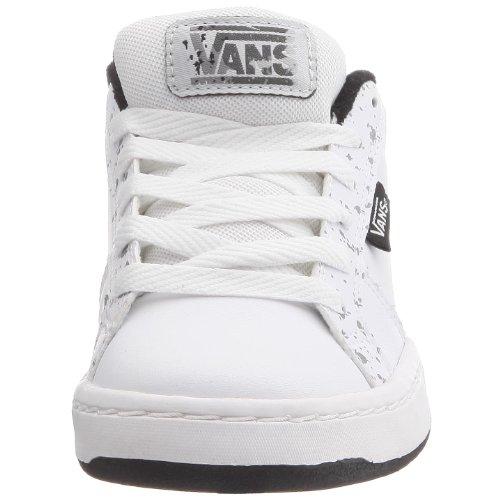 Vans Widow - Zapatillas de skate de cuero nobuck para niños Blanco (Weiß ((sprayed)white/black))