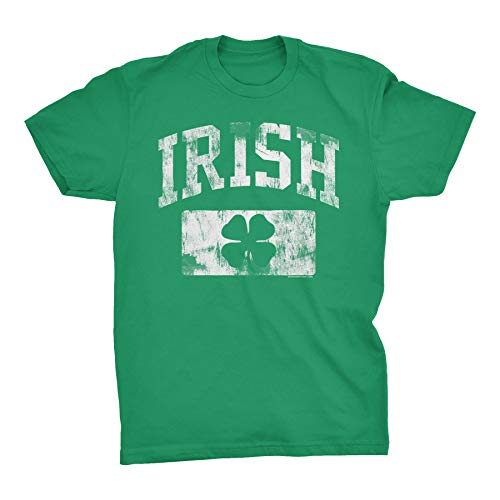 St Patricks Day Irish Shirt - Irish Athletic Distressed - Kelly-XL