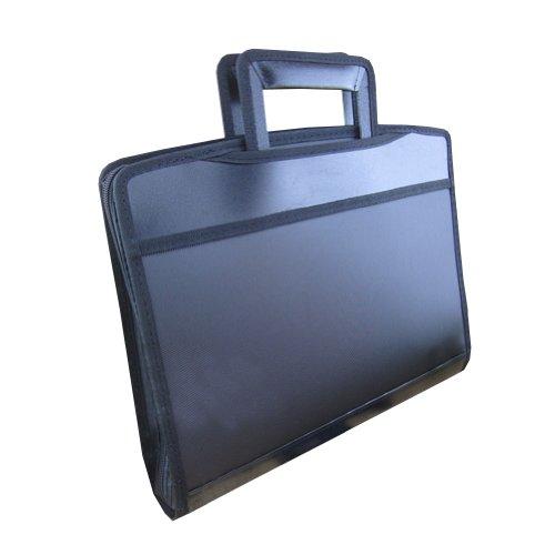 Multifunction Expanding File Padfolio Portfolio Briefcase (35.7x29x6cm) BLACK