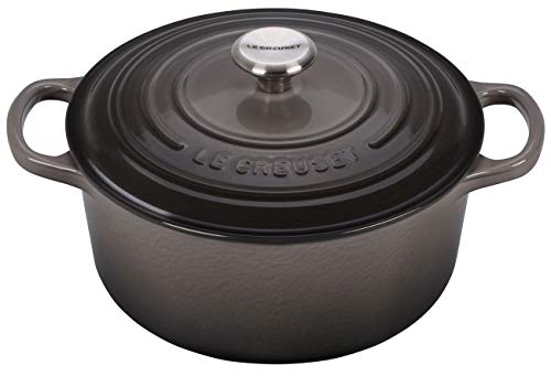 Le Creuset LS2501-227FSS Signature Enameled Cast Iron Round French Oven 3 1/2 quart Oyster