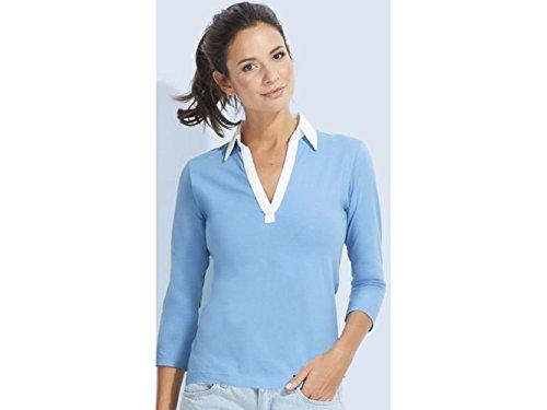 ATELIER DEL RICAMO - Camisa deportiva - para mujer Celeste / Bianco