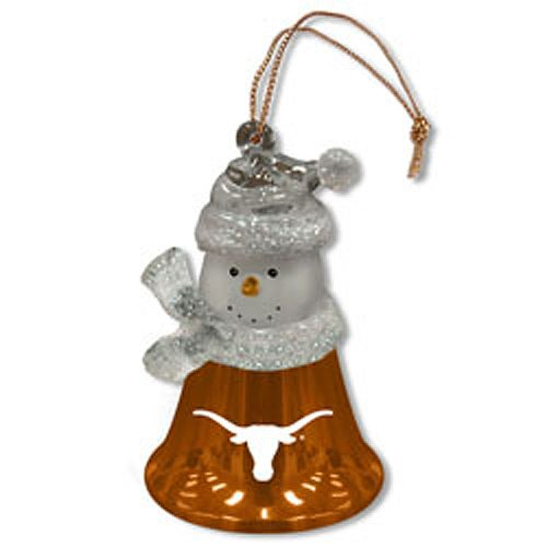 2.5 Inch Snowman Bell Ornament - Texas Snowman Bell Ornaments - Set Of 3