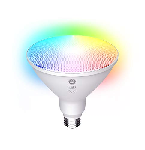 LED+ Color Changing Light Bulb with Remote Control, PAR38 LED Flood Light, 90-Watt Replacement, Full Color, Colored Light Bulb with 9 Color Options