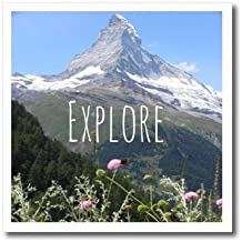 InspirationzStore Inspirational Quotes - Explore - inspirational motivational word - motivation mini-poster - mountain nature photography - Iron on Heat Transfers