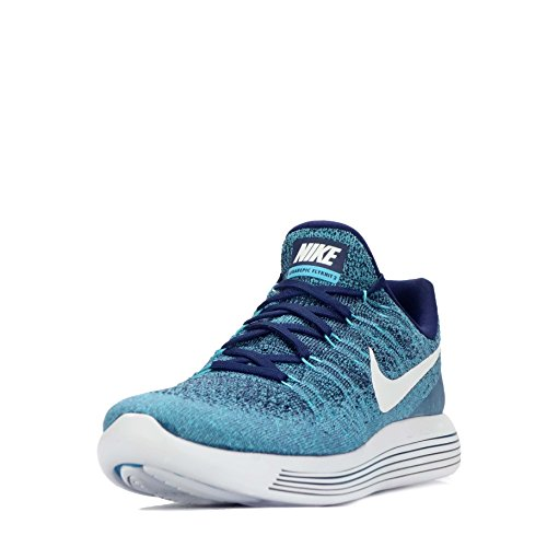 NIKE Mens Lunarepic Low Flyknit 2 Running Shoe (12 D(M) US, Binary Blue/White-Polarized)