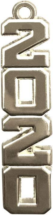 Graduation Year Charms Silver 2020 Vertical