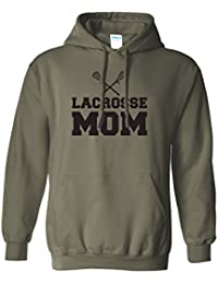 Lacrosse Mom Adult Hooded Sweatshirt in 9 colors