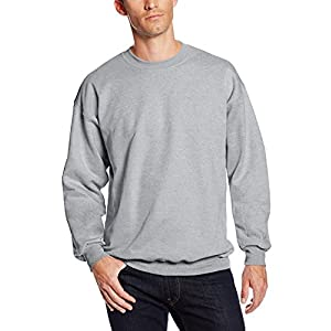 Hanes Men's Ultimate Heavyweight Fleece Sweatshirt, Light Steel, X-Large