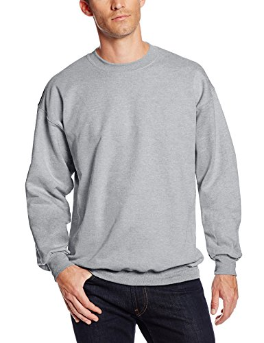 (Hanes Men's Ultimate Heavyweight Fleece Sweatshirt, Light Steel, Large)