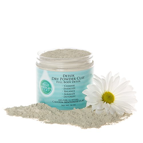Calcium Bentonite Clay Detox Cleanse - Detox Powder for Weight Loss, Liver & Colon - Food Grade Safe for Daily Internal use or a Healing Clay Face Mask - by Great American Clay (16 oz) by Great American Clay