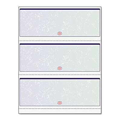 Docugard Premier Prismatic Business Checks, 3 Checks Per Page, Blue and Green, 24 Pound, 8.5 x 11 Inches, 500 Sheets per Ream (04539)