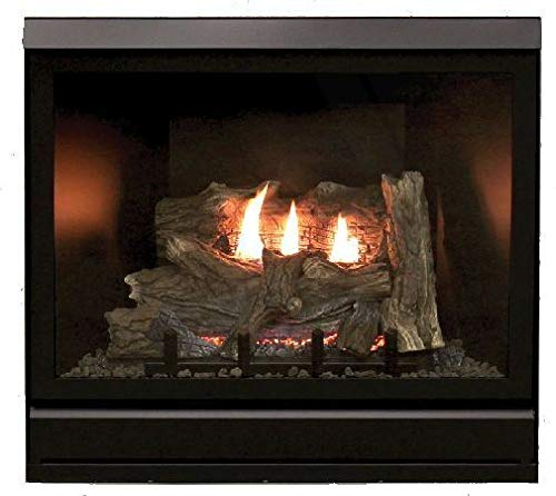 "Empire Comfort Systems Tahoe Clean Face Direct Vent IPC Deluxe 42"" LP Fireplace with Blower"