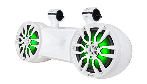 DS18 NXL-62TDW Hydro White 6.5' Water Proof Double Wakeboard Tower Speaker (with Driver System - Integrated RGB LED Lights - 750 Watts Max - 250 Watts RMS)