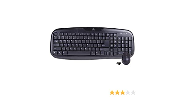d405b62b42a Amazon.com: Onn ONA11HO087 2.4GHz 103-Key Wireless Keyboard & Optical Mouse  Combo w/Nano USB Receiver (Black): Computers & Accessories