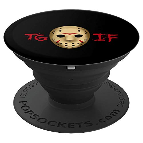 TGIF Halloween Horror - Scary Hockey Mask - PopSockets Grip and Stand for Phones and Tablets