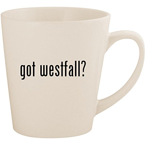 (got westfall? - White 12oz Ceramic Latte Mug Cup)