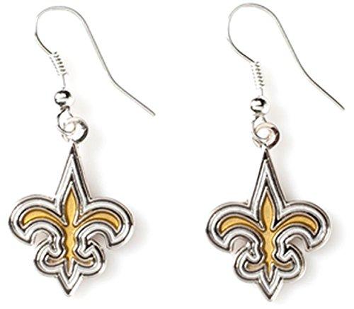 NFL New Orleans Saints Logo Dangler Earrings