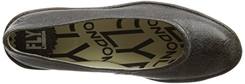 Fly London P500424074, Zapatos de Cuñas Mujer Gris (Slate 080)