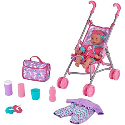 Patterns May Vary Kid Connection Baby Doll Stroller Play ...