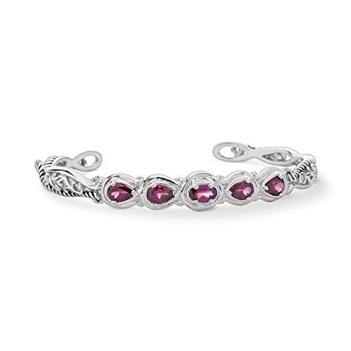 Relios By CP Garnet Cuff Bracelet by Carolyn Pollack