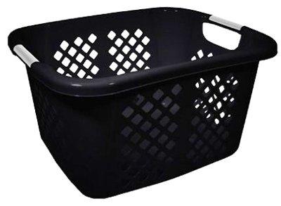 HMS 2253-75 Home Logic 1.5 Bushel Black Laundry Basket