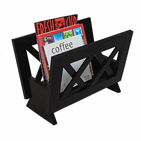 Oceanstar M1125 Contemporary Solid Wood Magazine Rack, Mahogany Finished