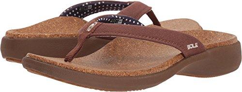 Sandals Womens Flips Sole (SOLE Women's Casual Flips Bark 10 M US)