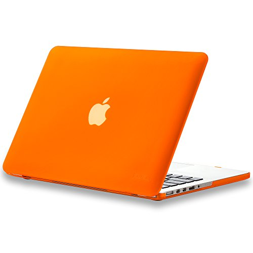 Kuzy - Older Version MacBook Pro 13.3 inch Case (Release 2015-2012) Soft Touch Cover for Model A1502 / A1425 with Retina Display Hard Shell Plastic - Orange