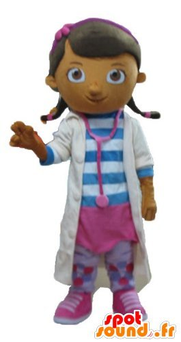 Hija-de-la-mascota-SpotSound-enfermera-doctor-en-batas-blancas