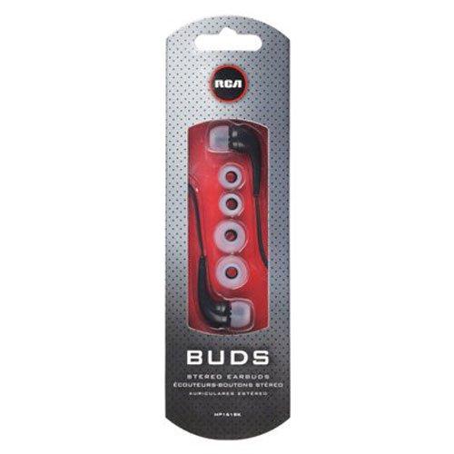 RCA HP161BK Noise Isolating Earbuds Neodymium