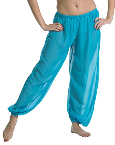 Belly Dance Chiffon Harem Pants | Sheer Shadow - Turquoise]()