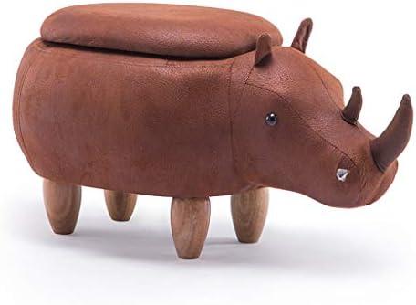 ZGQA-GQA 漫画クリエイティブサイフットスツール木製の靴ベンチソファフットスツールスツールホールテストの靴スツールストレージストレージスツール木製ベンチ(スタイル:牛収納ボックス)
