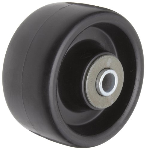 "RWM Casters Polyolefin Wheel, Roller Bearing, 500 lbs Capacity, 4"" Wheel Dia, 2"" Wheel Width, 2-7/16"" Plate Length"