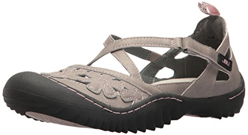 Cement Womens (JBU by Jambu Women's Blossom Vegan Mary Jane Flat, Cement, 7.5 M US)