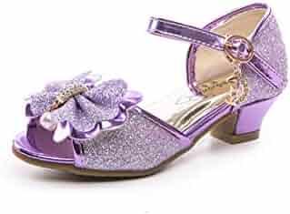 c4238f8a73db Je-Gou Little Kid s Girl s Glitter Pretty Party Dress Pumps Wedding Sandals( Toddler