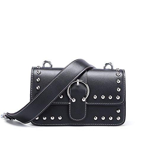 Womens Cross Body Bag Mode Mignon Sac à Main Casual Petit Sac à Bandoulière Black